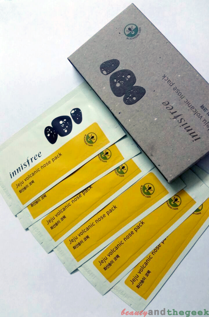 Innisfree Jeju Volcanic Nose Pack packaging