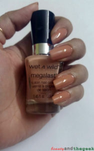 Wet n wild Megalast salon nail color Private Viewing swatch