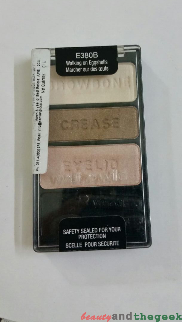 Wet n Wild Color Icon Eyeshadow Trio - Walking On Eggshells review