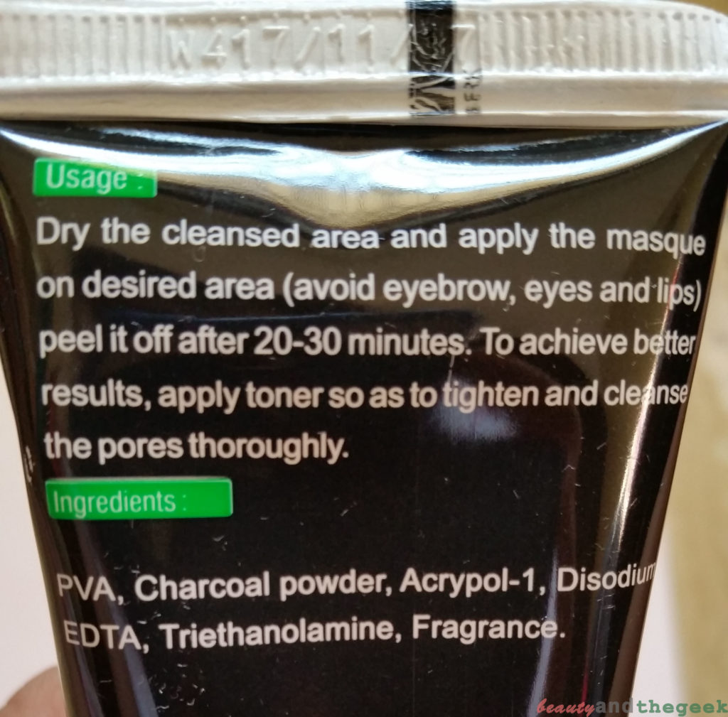 Healthvit Activated Charcoal, Purifying Peel-off Mask usage
