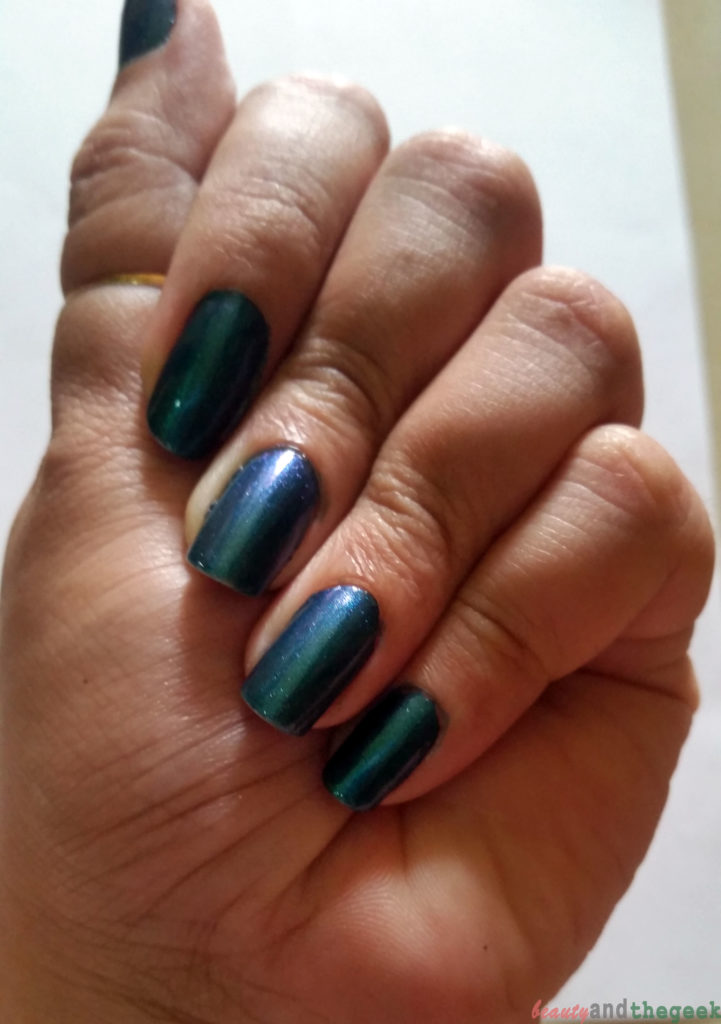 Stay Quirky Nail Polish Holographic Effect Black Magic - Talisman 1108 nail swatch