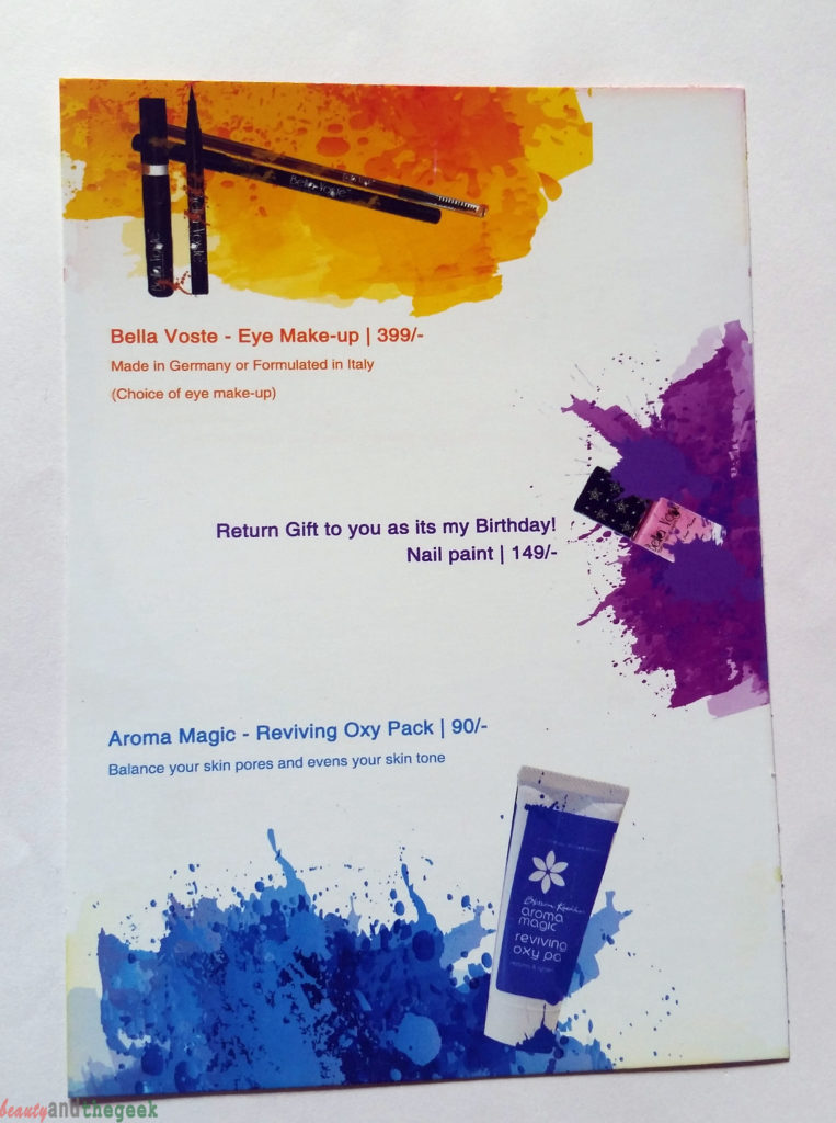 Glam Ego box March Monthly Subscription Box Review info card