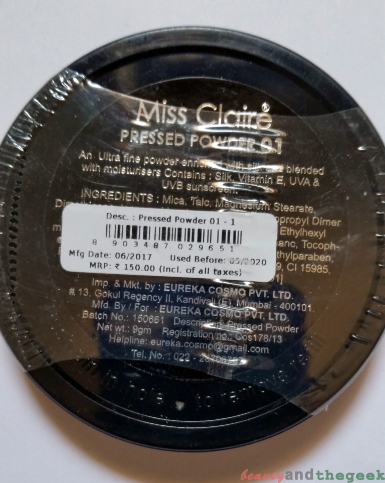 Price of Miss Claire Pressed Powder 01