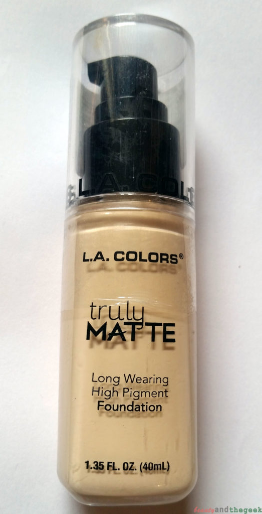 L.A. Colors Truly matte foundation long wearing high pigment