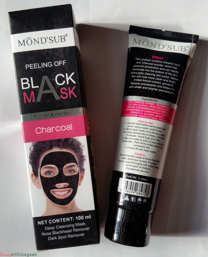 MOND'SUB Peeling Off Charcoal Black Mask review