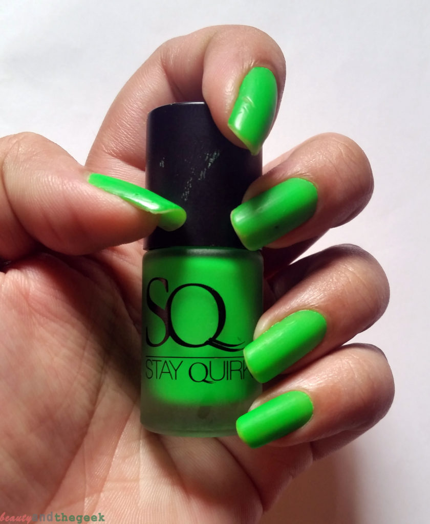 Stay Quirky Nail Polish Matte Finish Fluorescent swatch