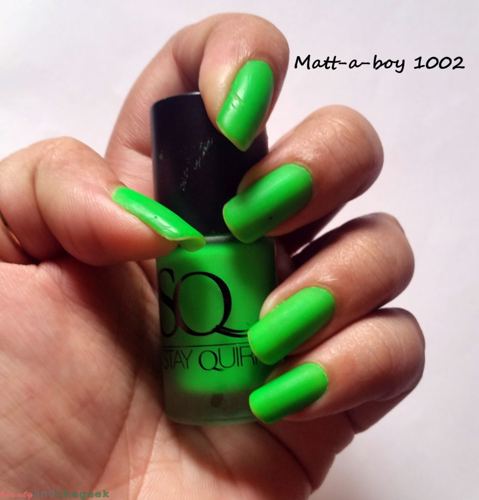 Stay Quirky Nail Polish Matte Finish Fluorescent nails