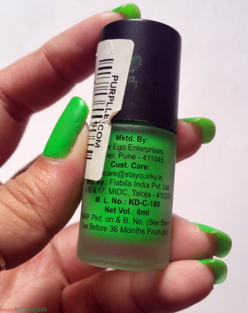 Stay Quirky Nail Polish Matte Finish Fluorescent quantity