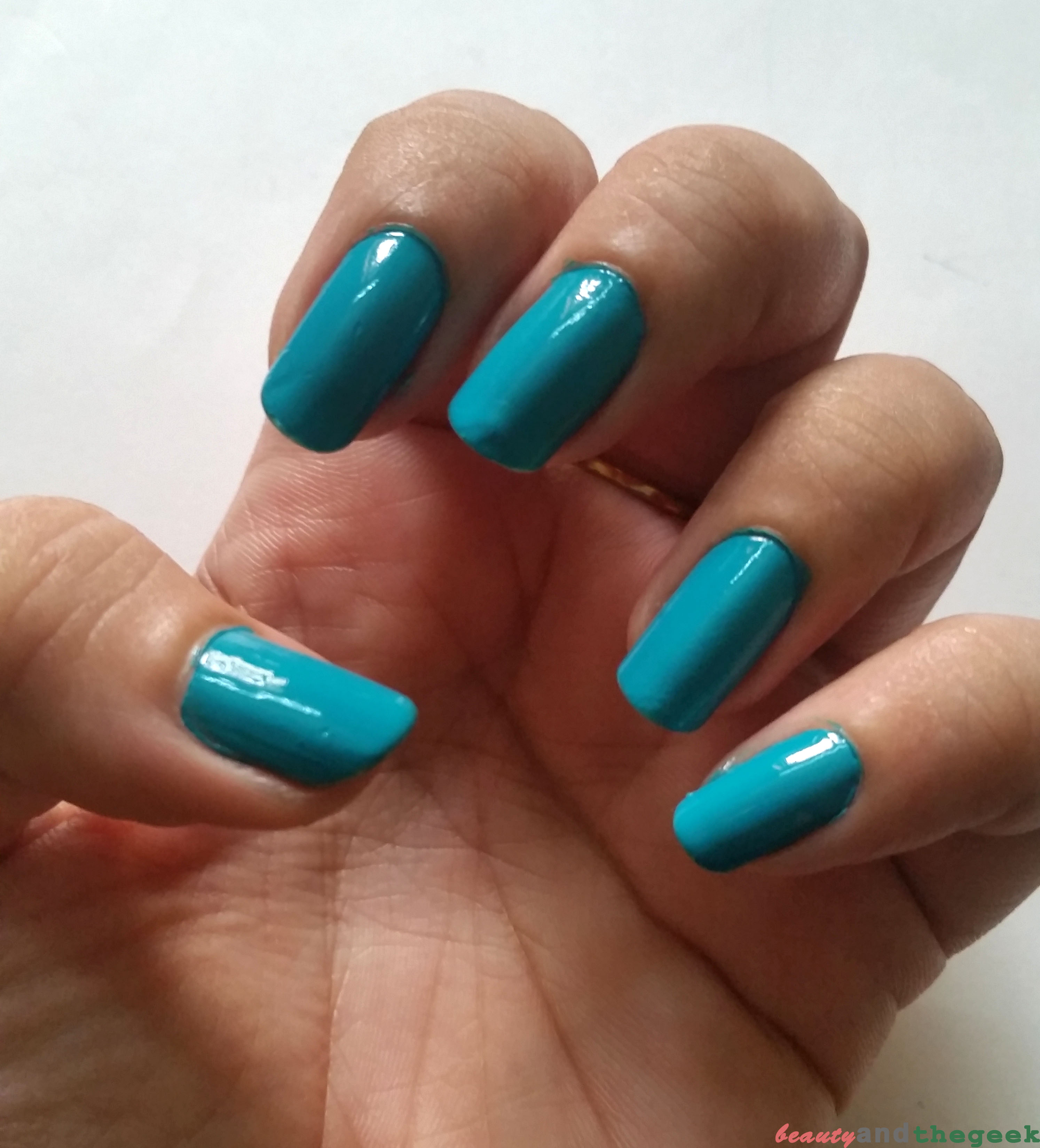 Bella Voste Premium Nail Enamel - Tropical Teal 34, Review and Swatch -
