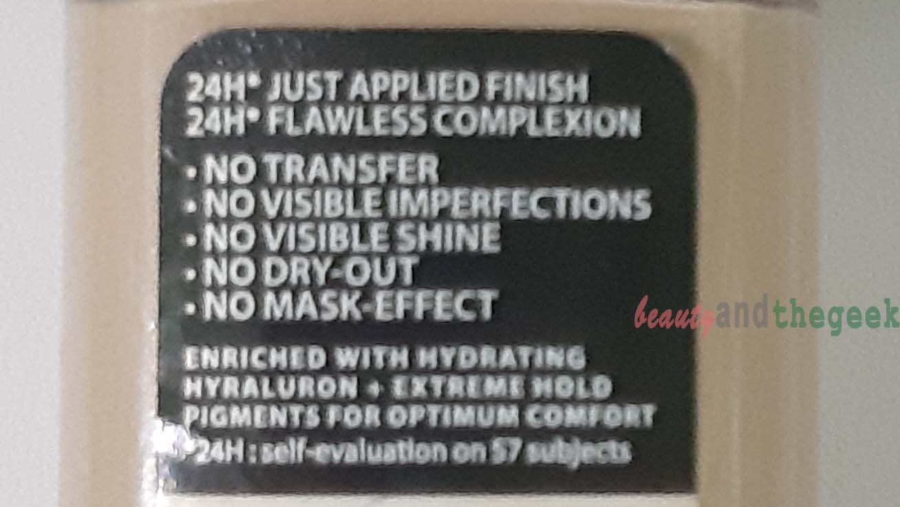 L'Oreal Paris INFALLIBLE 24h stay fresh foundation claims