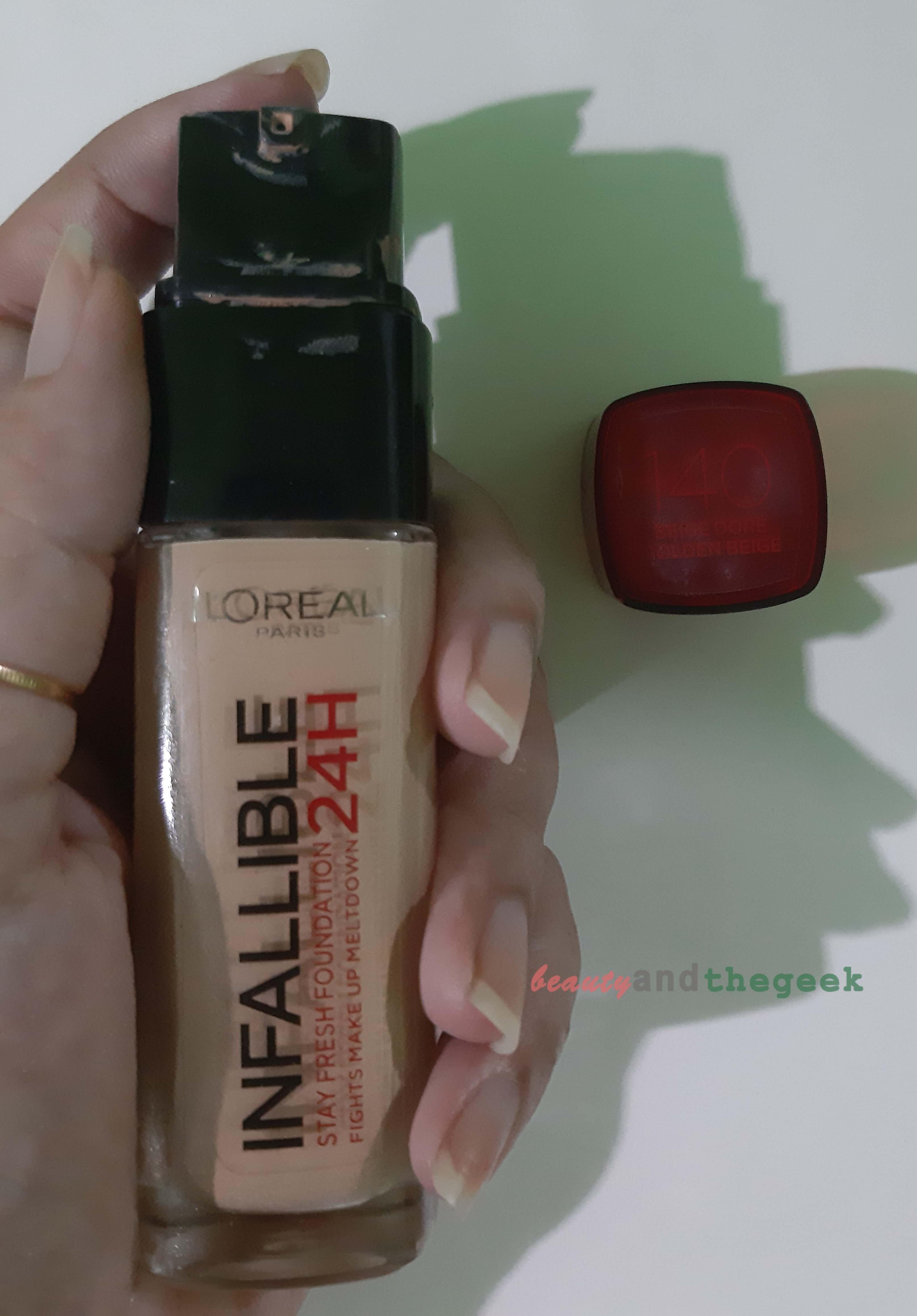 L'Oreal Paris INFALLIBLE 24h stay fresh foundation Review