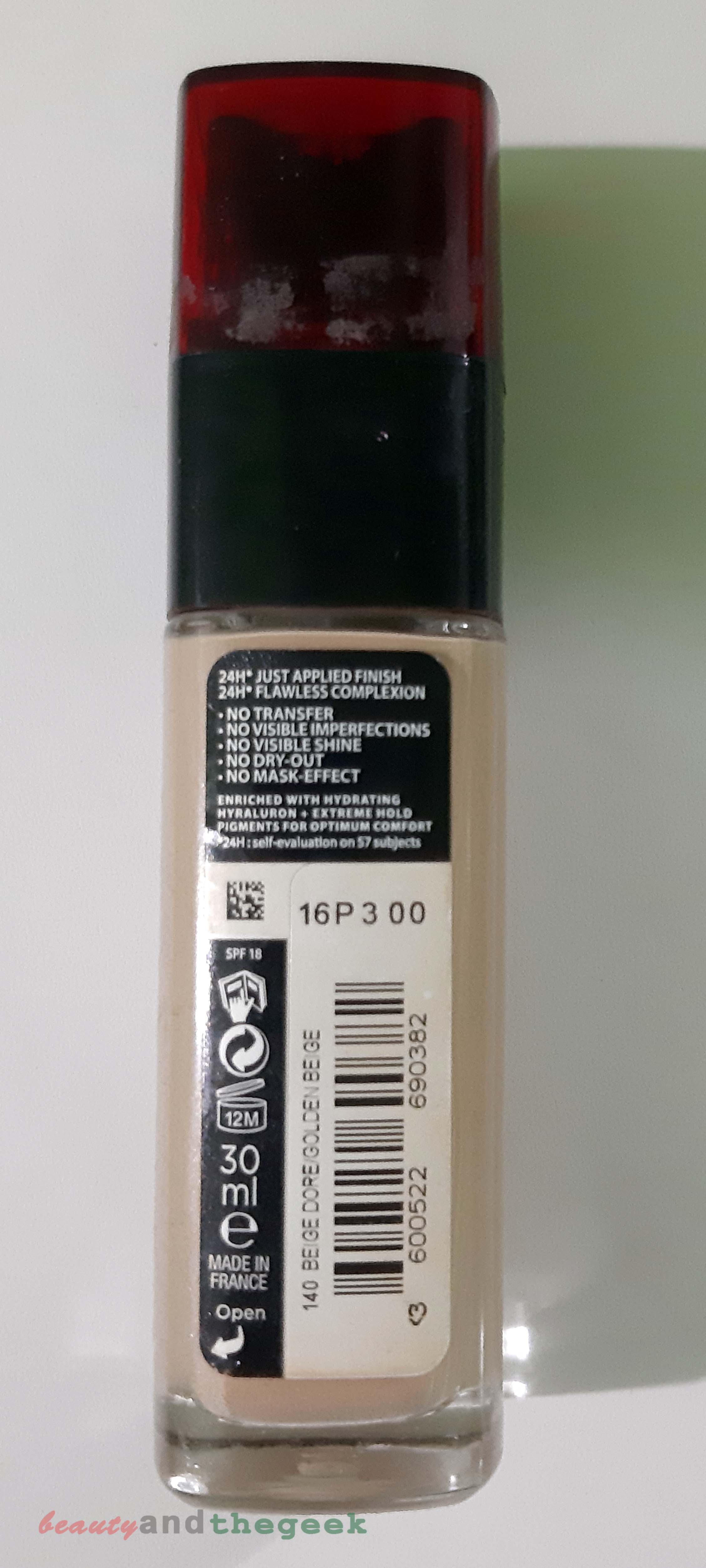 claims of L'Oreal Paris INFALLIBLE 24h stay fresh foundation-  Review