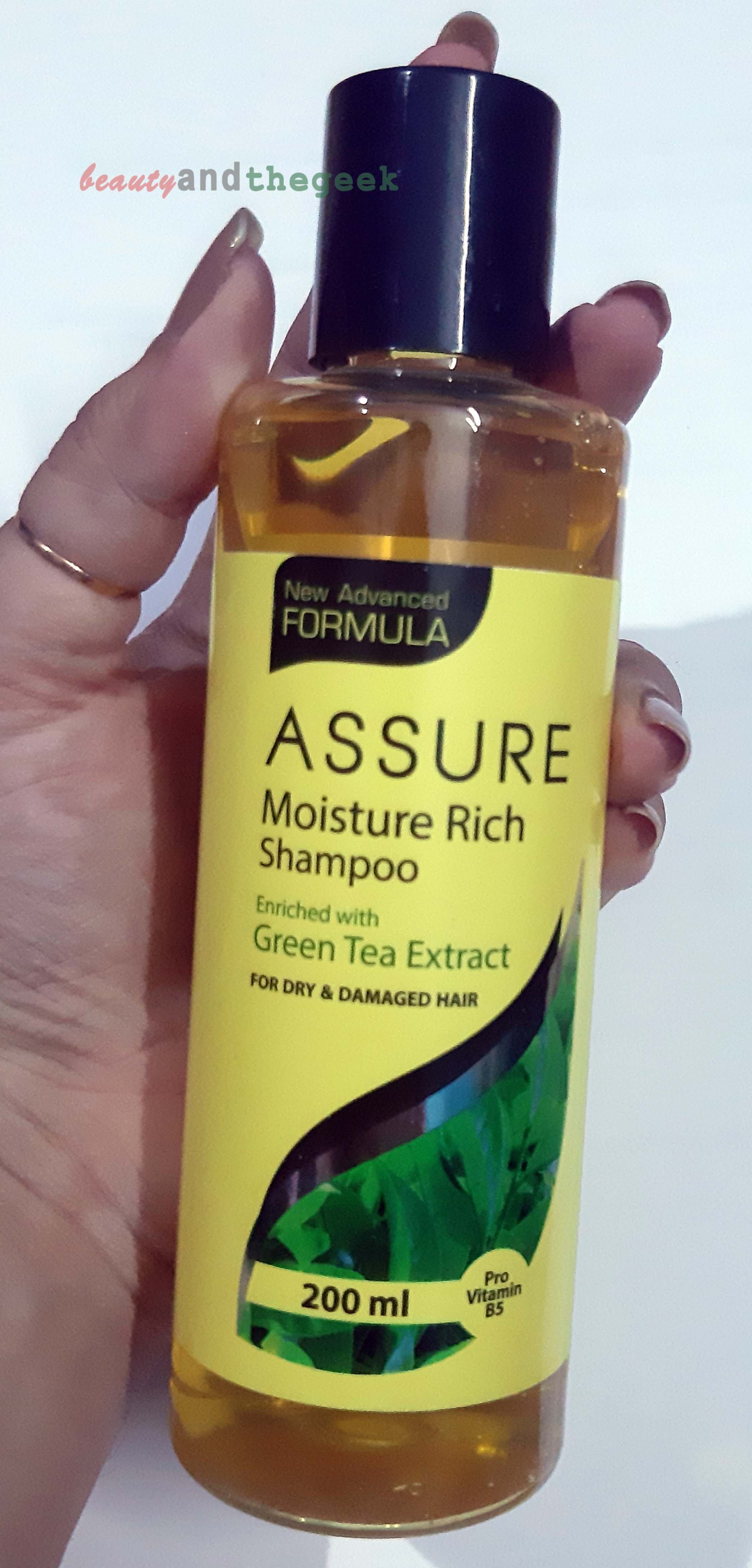 Vestige Assure moisture rich shampoo enriched with green tea extracts