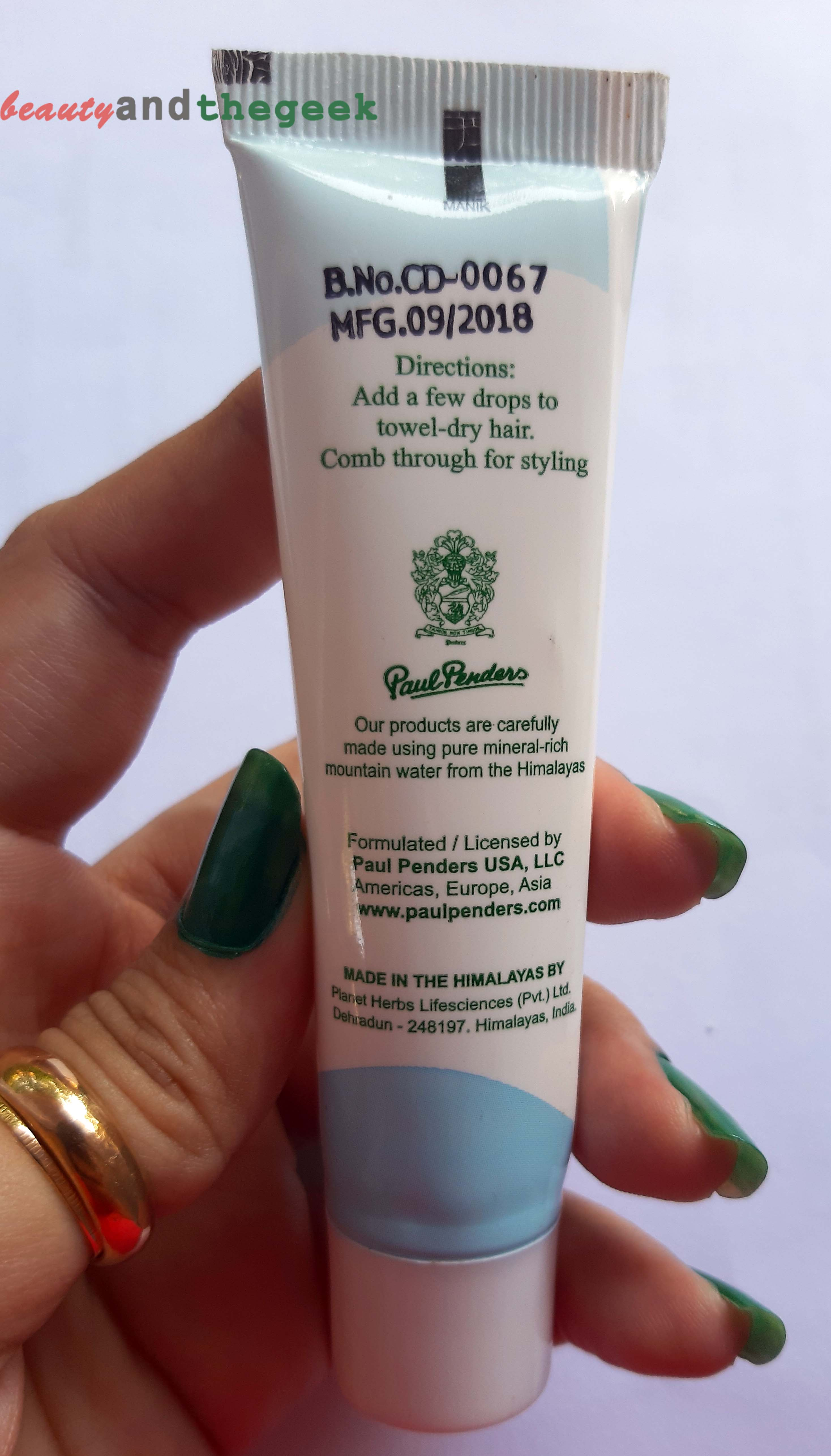 direction for use Paul Penders Leave-In Defrizzing Balm